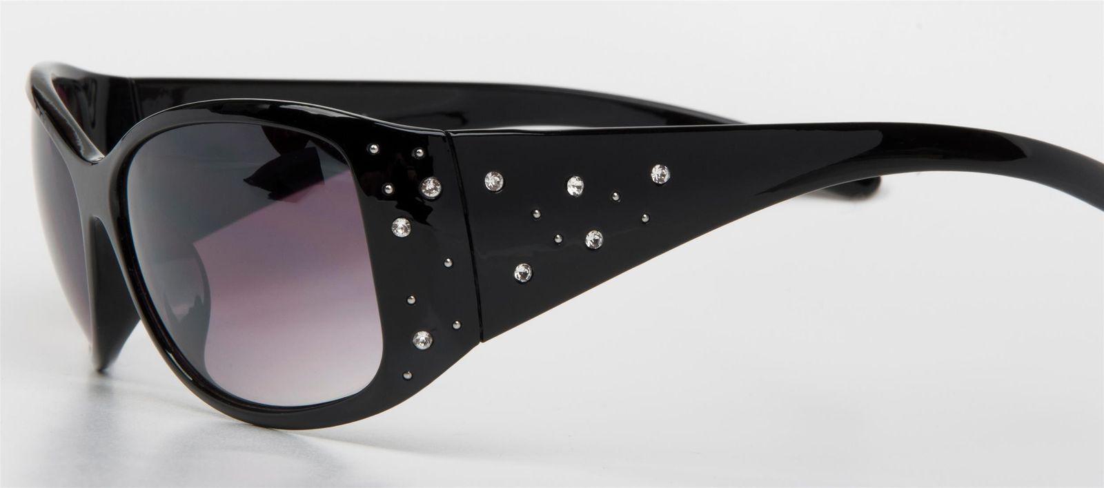 Sonnenbrille mit Strasssteine, Verlaufstönung, Schmetterlingsform Strass, Damen