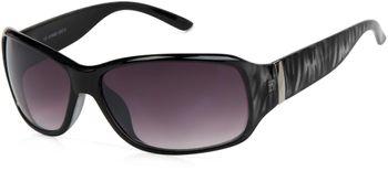 styleBREAKER Designer Sonnenbrille mit Streifen Musterung, Schmetterlingsform, Vollrand, Damen 09020052 – Bild 2