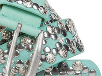 styleBREAKER Vintage Rivet belt, various rivets and rhinestones, can be shortened, women 03010053 – Bild 12