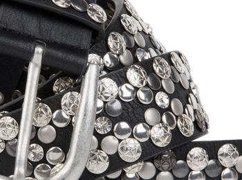 styleBREAKER Vintage Rivet belt, various rivets and rhinestones, can be shortened, women 03010053 – Bild 4