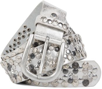styleBREAKER Vintage Rivet belt, various rivets and rhinestones, can be shortened, women 03010053 – Bild 7