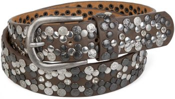 styleBREAKER Vintage Rivet belt, various rivets and rhinestones, can be shortened, women 03010053 – Bild 30