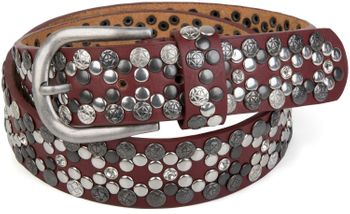 styleBREAKER Vintage Rivet belt, various rivets and rhinestones, can be shortened, women 03010053 – Bild 24