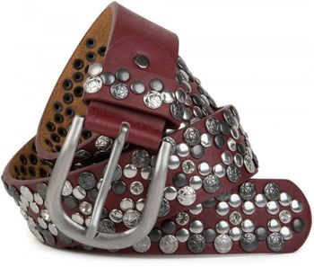 styleBREAKER Vintage Rivet belt, various rivets and rhinestones, can be shortened, women 03010053 – Bild 22
