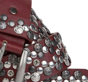 styleBREAKER Vintage Rivet belt, various rivets and rhinestones, can be shortened, women 03010053 – Bild 23