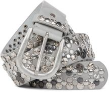 styleBREAKER Vintage Rivet belt, various rivets and rhinestones, can be shortened, women 03010053 – Bild 15