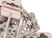 styleBREAKER Vintage Rivet belt, various rivets and rhinestones, can be shortened, women 03010053 – Bild 18