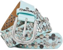 styleBREAKER Vintage Rivet belt, various rivets and rhinestones, can be shortened, women 03010053 – Bild 5
