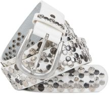 styleBREAKER Vintage Rivet belt, various rivets and rhinestones, can be shortened, women 03010053 – Bild 9