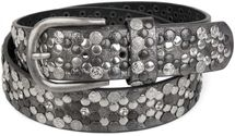 styleBREAKER Vintage Rivet belt, various rivets and rhinestones, can be shortened, women 03010053 – Bild 33