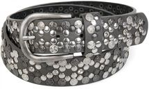 styleBREAKER Vintage Rivet belt, various rivets and rhinestones, can be shortened, women 03010053 – Bild 27