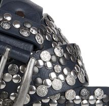 styleBREAKER Vintage Rivet belt, various rivets and rhinestones, can be shortened, women 03010053 – Bild 20