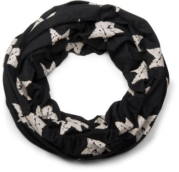 styleBREAKER classic tube scarf snood with vintage star pattern, unisex 01018079 – Bild 3