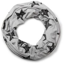 styleBREAKER classic tube scarf snood with vintage star pattern, unisex 01018079 – Bild 2