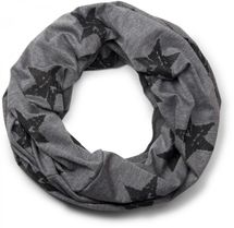 styleBREAKER classic tube scarf snood with vintage star pattern, unisex 01018079 – Bild 4