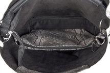 styleBREAKER Handtaschen Set in Schlangenleder Optik mit Strass Applikation im Sternenhimmel Design, 2 Taschen 02012013 – Bild 45