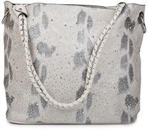 styleBREAKER Handtaschen Set in Schlangenleder Optik mit Strass Applikation im Sternenhimmel Design, 2 Taschen 02012013 – Bild 46