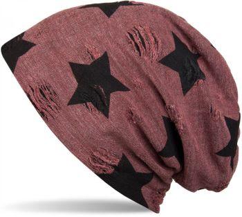 styleBREAKER Beanie Mütze mit Sterne und Vintage Punkte Muster, Unisex 04024046 – Bild 3
