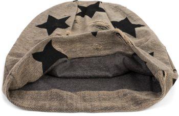styleBREAKER Unisex Stoff Beanie Mütze mit Sterne und Vintage Punkte Muster, mit Rissen im Destroyed used Look 04024046 – Bild 13