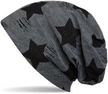 styleBREAKER Beanie Mütze mit Sterne und Vintage Punkte Muster, Unisex 04024046 – Bild 1
