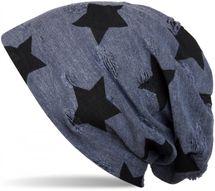 styleBREAKER Beanie Mütze mit Sterne und Vintage Punkte Muster, Unisex 04024046 – Bild 2