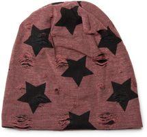 styleBREAKER Beanie Mütze mit Sterne und Vintage Punkte Muster, Unisex 04024046 – Bild 9