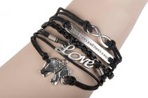 styleBREAKER lucky bracelet, soft costume jewellery with lettering and woven pendant, women 05040021 – Bild 23