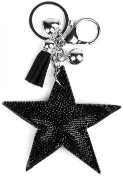 styleBREAKER Schlüsselanhänger mit Strass Stern und Quaste, Kugel, Befestigungsring, Karabiner, Damen 05050005 – Bild 4