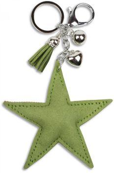 styleBREAKER Schlüsselanhänger mit Strass Stern und Quaste, Kugel, Befestigungsring, Karabiner, Damen 05050005 – Bild 23