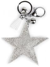 styleBREAKER Schlüsselanhänger mit Strass Stern und Quaste, Kugel, Befestigungsring, Karabiner, Damen 05050005 – Bild 12