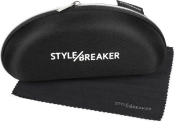 styleBREAKER sunglasses case with cleaning cloth, softcase with zip fastening, glasses case 09020057 – Bild 1