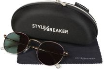 styleBREAKER sunglasses case with cleaning cloth, softcase with zip fastening, glasses case 09020057 – Bild 6