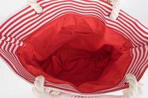 styleBREAKER Strandtasche in Streifen Optik mit Stern, Schultertasche, Shopper, Damen 02012037 – Bild 11