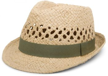styleBREAKER airy straw hat with decorative and contrasting coloured ribbon, summer hat, unisex 04025001  – Bild 1