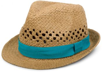 styleBREAKER airy straw hat with decorative and contrasting coloured ribbon, summer hat, unisex 04025001  – Bild 2