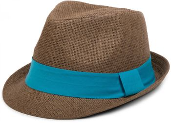 styleBREAKER trilby hat, airy paper hat with contrasting coloured ribbon, unisex 04025002 – Bild 12