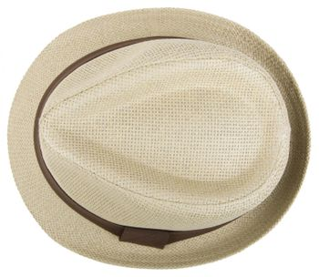 styleBREAKER trilby hat, airy paper hat with contrasting coloured ribbon, unisex 04025002 – Bild 15