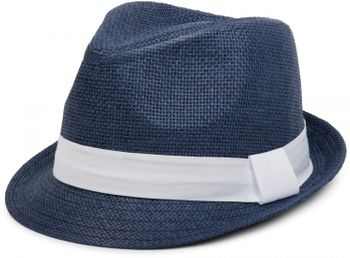styleBREAKER trilby hat, airy paper hat with contrasting coloured ribbon, unisex 04025002 – Bild 4