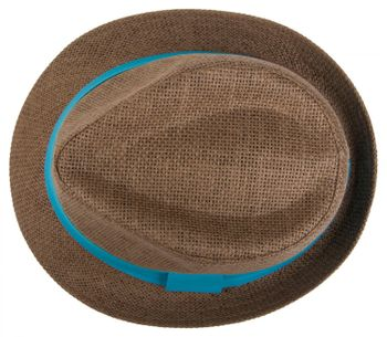 styleBREAKER trilby hat, airy paper hat with contrasting coloured ribbon, unisex 04025002 – Bild 21