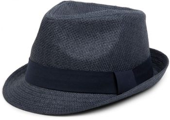 styleBREAKER trilby hat, airy paper hat with contrasting coloured ribbon, unisex 04025002 – Bild 10