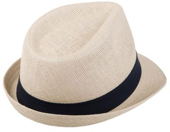 styleBREAKER Trilby Hut, leichter Papierhut mit kontrastfarbigem Zierband, Unisex 04025002 – Bild 34