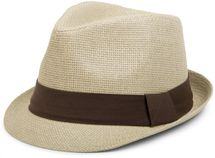 styleBREAKER trilby hat, airy paper hat with contrasting coloured ribbon, unisex 04025002 – Bild 1