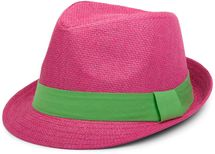 styleBREAKER trilby hat, airy paper hat with contrasting coloured ribbon, unisex 04025002 – Bild 7