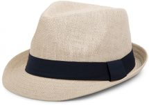 styleBREAKER trilby hat, airy paper hat with contrasting coloured ribbon, unisex 04025002 – Bild 6