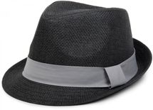 styleBREAKER trilby hat, airy paper hat with contrasting coloured ribbon, unisex 04025002 – Bild 8