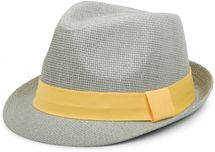 styleBREAKER trilby hat, airy paper hat with contrasting coloured ribbon, unisex 04025002 – Bild 9