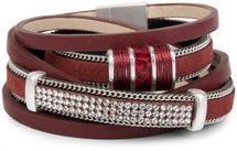 styleBREAKER vintage style wrap bracelet with rhinestone, plain coil chain and magnetic closure, 3 rows, bracelet, ladies 05040024 – Bild 8