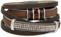 styleBREAKER vintage style wrap bracelet with rhinestone, plain coil chain and magnetic closure, 3 rows, bracelet, ladies 05040024 – Bild 14