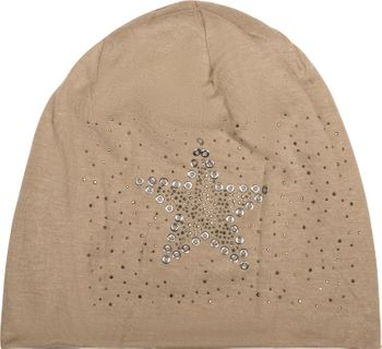 styleBREAKER slouch beanie with star rivets and rhinestone applications, punched rivets, unisex 04024049  – Bild 15