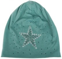 styleBREAKER slouch beanie with star rivets and rhinestone applications, punched rivets, unisex 04024049  – Bild 9